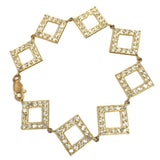 10K 18.8MM Yellow Gold Square Bracelet WBG-027 - WORLDSTARBLING