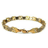 10K 7.1KM Yellow Gold Heart Matte Bracelet WBG-031 - WORLDSTARBLING