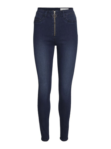 NMCALLIE HIGH WAISTED ZIP SKINNY FIT JEANS