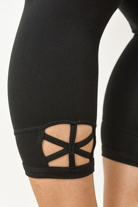 Active Wear - High Waist Capri Plus Size Legging