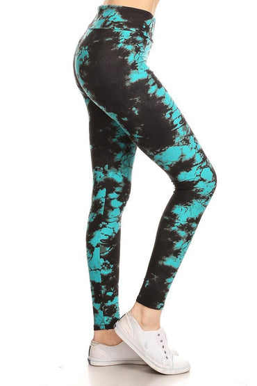 Tie Dye Print Yoga Pants Leggings