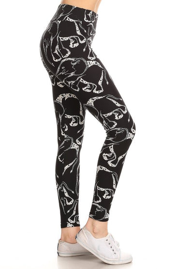 Elephant Print Yoga Pants Leggings