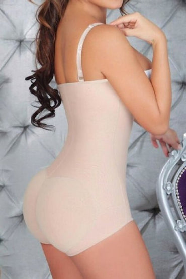Women's Body Cachetero Gluteus Enhancer Strapless Short Girdle Shapless