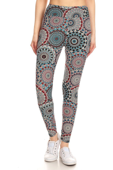 Mandala Print Yoga Pants Leggings