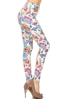 Leggings - New Women's Super Soft Legging Floral Print