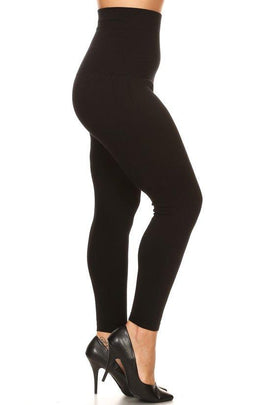 Leggings - Women's Plus Size Legging High Waist Compression