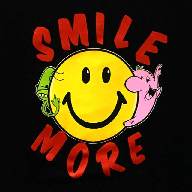 SMILE MORE tee - Goop Massta & Angel Once collab