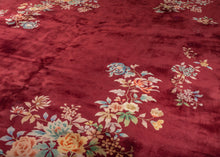 Burgundy Chinese Deco Rug - 9' x 12'
