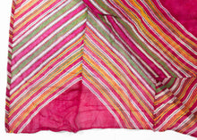 TX268 - Antique Rajasthani Lehriya Shawl - 4'5 x 7'10