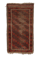 Antique Baluch Rug with red and blue diamonds