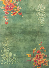 Antique Green Deco Rug