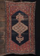 Antique NW Persian Bidjar Rug with prominant blue and red tones