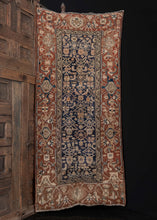 AntiqueNWPersianMalayerRugBrownBlue