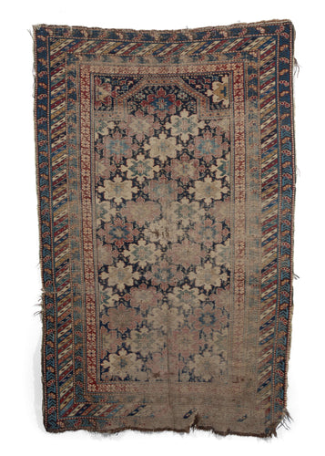 Antique Caucasian Kuba Prayer Rug with allover snowflake design