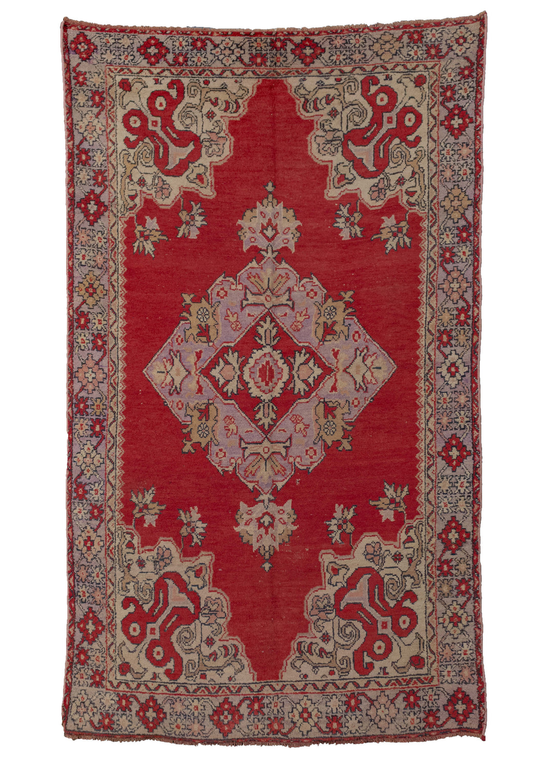 Vintage Turkish Oushak Rug - 4'6 x 7'8