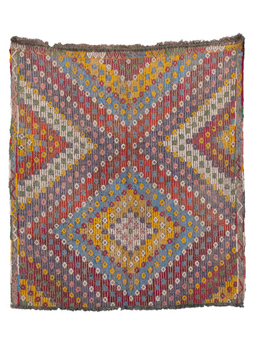 Turkish Sumac Cicim Kilim - 4'7 x 5'1