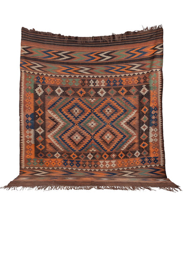 Antique Maimana Kilim  - 7'7 x 9'3