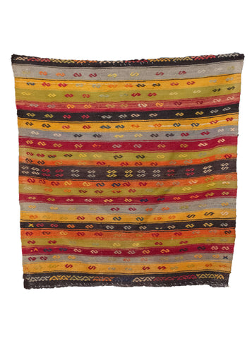 Vintage Turkish Kilim - 3'10 x 3'10