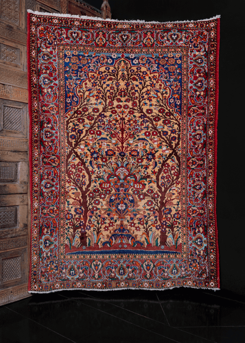 Tree of Life Mashad Rug - 4'8 x 6'9