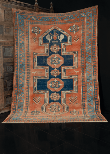 Antique Caucasian Kazak Rug - 6'2 x 9'