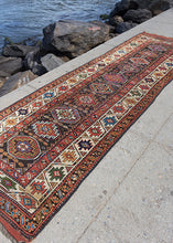 Antique Kurdish Runner - 3'8 x 11'2