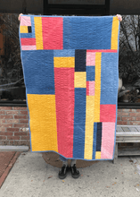 "Emma Redmond ""Blue Pink Yellow Quilt"""