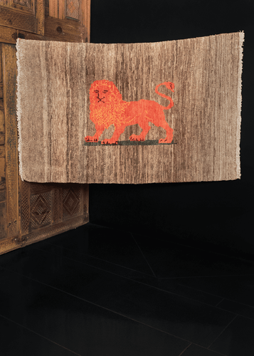 Contemporary Lion Gabbeh - 3'3 x 4'11