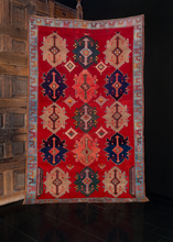 Antique Kuba Rug - 4'7 x 7'7