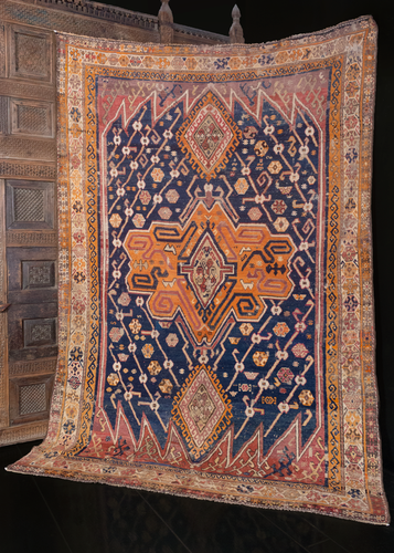 Antique Kurdish Rug - 5'10 x 8'4