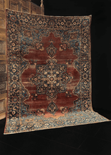 Antique Yazd Rug - 5'10 x 8'6