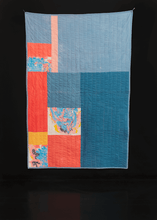 "Blue Pink Yellow Quilt - 38"" x 57"""