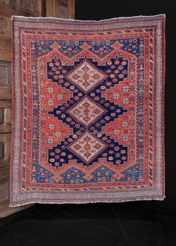 Antique Afshar Rug - 4'9 x 5'8