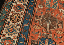 19th Century Kazak Runner - 3'8 x 11'1
