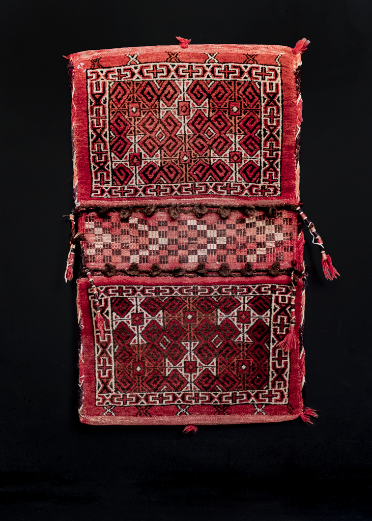Turkmen double saddlebag or