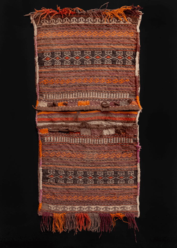 Kilim woven double saddlebag or
