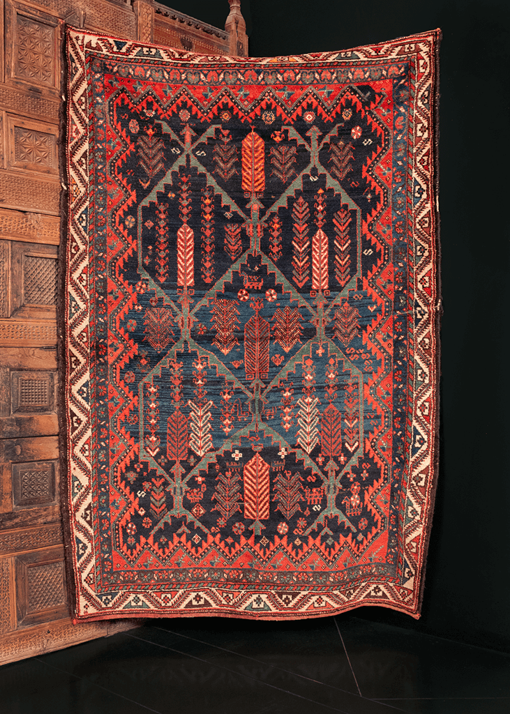 Antique Bakhtiari Rug - 4'8 x 6'11