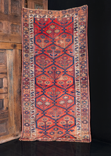 Antique Kurdish Lattice Rug - 3'9 x 7'3
