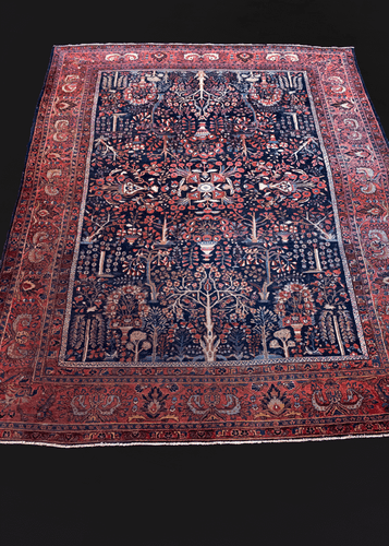 Antique Persian Sarouk Rug - 9' x 11'8