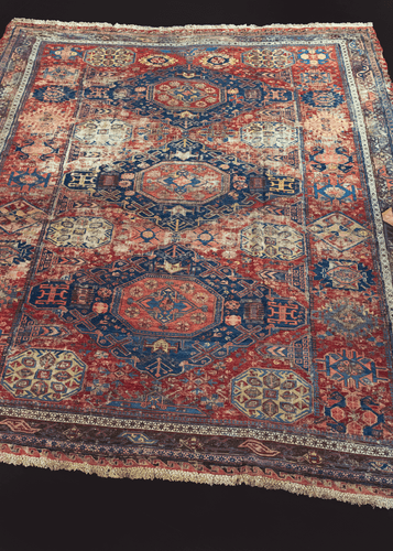 Antique Soumak Rug - 8'3 x 9'