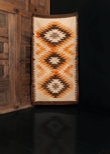 Colorful, concentric, jagged edge, Navajo design, abrash