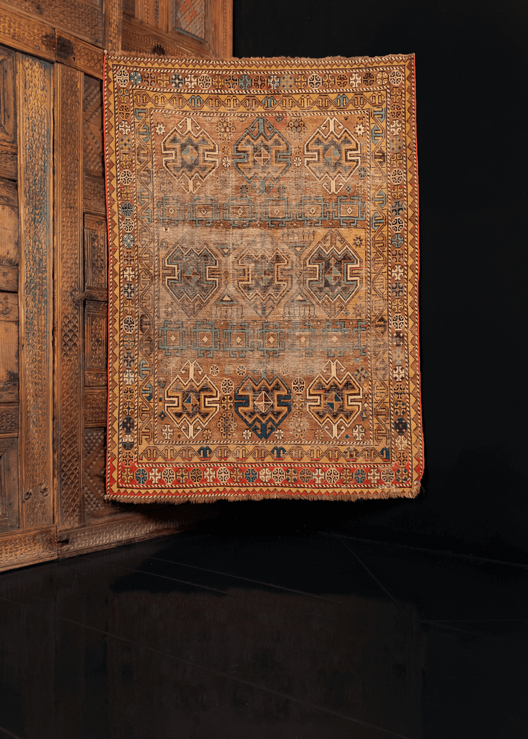Antique Shirvan Rug - 3'3 x 4'5