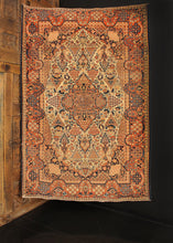 Antique Dabir Kashan - 4'3 x 6'5
