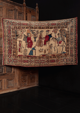 19th century pictorial Kerman rug with figures