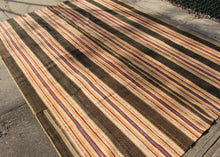 Antique American Rag Rug -  6'4 x 8'9