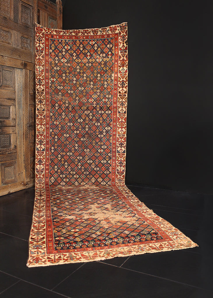 Antique Kurdish - 3'10 x 12'10