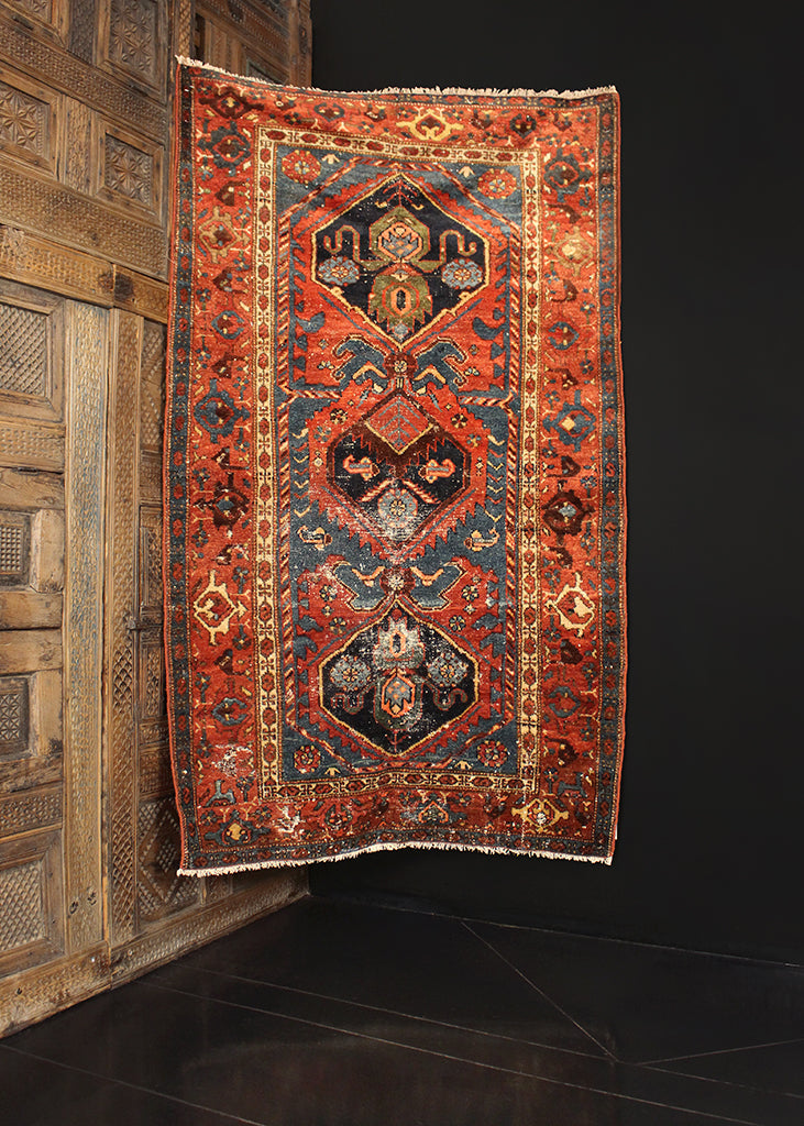 Antique Hamadan - 3'6 x 6'