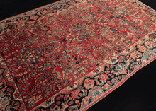 Antique Sarouk Rug - 4'4 x 6'7