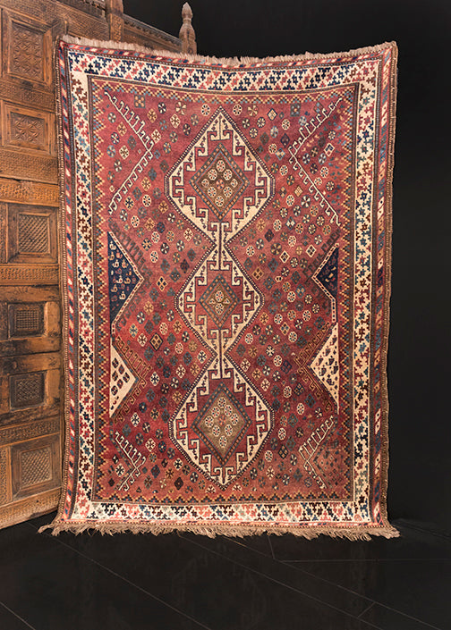 Antique Khamseh - 5'1 x 7'4
