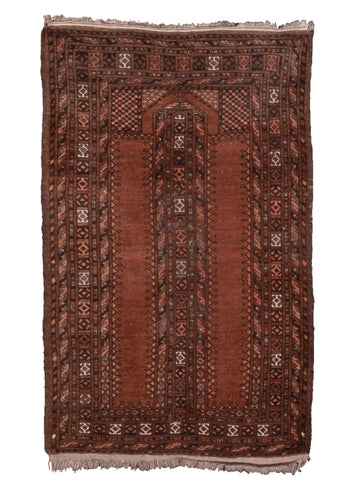 Mid Century Turkmen Prayer Rug