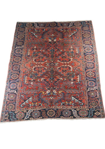 NW Persian Heriz Allover Madder Red Floral Design Room Size Rug